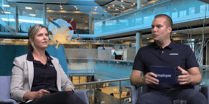 Simployers HR-direktør Marianne Reese-Larsen og CTO Kristian Kolstad